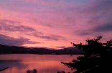 夕方の桧原湖