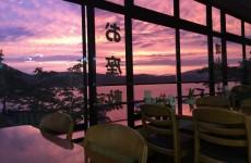 夏の桧原湖の夕暮れ(3)