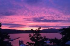夏の桧原湖の夕暮れ(4)