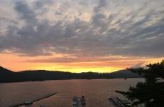 夏の桧原湖の夕暮れ(5)
